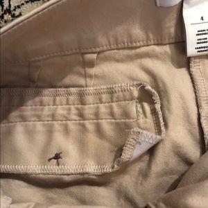 White House Black Market Shorts - whbm tan side button shorts
